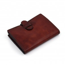 Novčanik/futrola za kreditne kartice - kesten braon - ručni rad