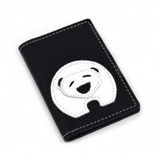 Polarni meda - crni novčanik/futrola za kreditne kartice
