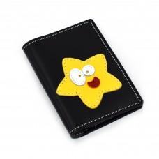 Zvezdica - crni novčanik/futrola za kreditne kartice