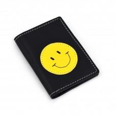 Smajli - crni novčanik/futrola za kreditne kartice