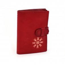 Aegishjlamur crveni novčanik/futrola za kreditne kartice - ručni rad
