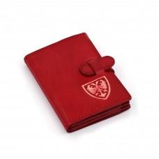 Grb Nemanjića crveni novčanik/futrola za kreditne kartice - ručni rad