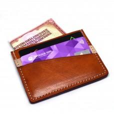 Narandžasti Minimalistički Kožni Novčanik Za Kreditne Kartice