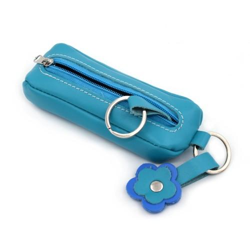 Kožna futrola za ključeve Mira - plave boje