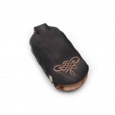 Kožna futrola za ključeve Sima - sive boje