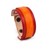 Narandžasto-crvena kožna narukvica SE-002
