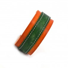 Zeleno narandžasta kožna narukvica SE-002a