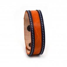 Narandžasto-teget kožna narukvica SE-003