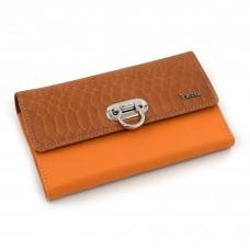 Veliki ženski kožni novčanik - Model 166K narandžasto-braon