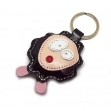 Crna ovca kožni privesak za ključeve