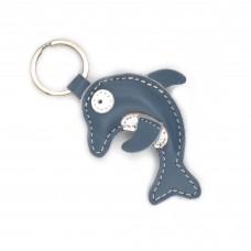 Delfin kožni privesak za ključeve