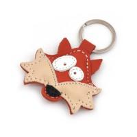 Lisica kožni privesak za ključeve