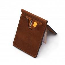 Novčanik sa šnalom braon boje tekstura drveta