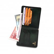 Zeleni, ručno bojeni, muški kožni novčanik